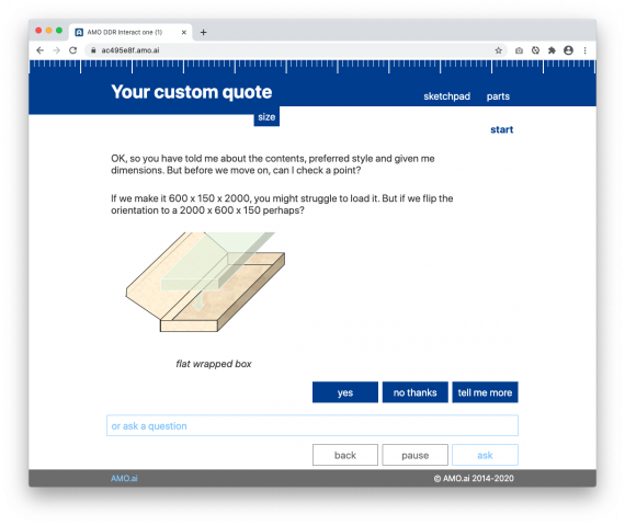 AMO helps your customer identify which design is best for them